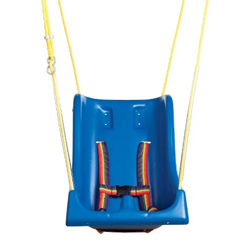 Full Support Seat - Full support swing seat with pommel, small (child), with rope