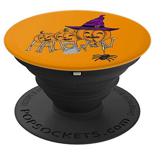3 Happy Halloween Pumpkin Creepy Faces PopSockets Grip and Stand for Phones and Tablets
