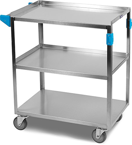 Carlisle UC3031827 Stainless Steel 18-8 Utility Cart, 300-lb. Capacity, 34'' x 18'' x 27'', 3 Shelf by Carlisle