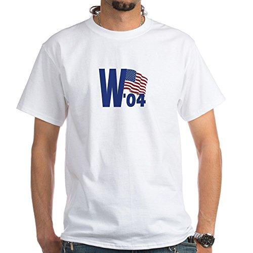 CafePress George W Bush 04' T-Shirt - 100% Cotton T-Shirt, White