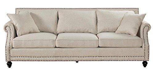 TOV Furniture Camden Linen Sofa, Beige