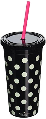 kate spade new york Insulated Tumbler, Black Dots