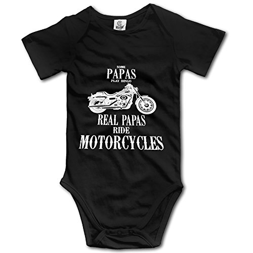 Toddler 100% Cotton Short Sleeve Bodysuits Vest Rompers For Some Papas Play Bingo, Real Ride Motorcycles ()