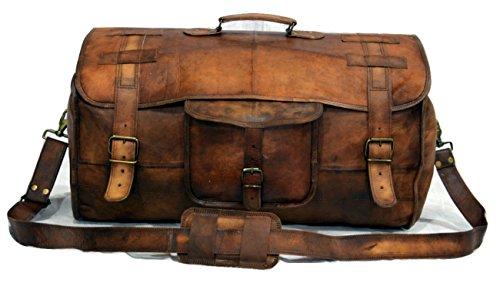 Leather Weekend Duffel Holdall Luggage