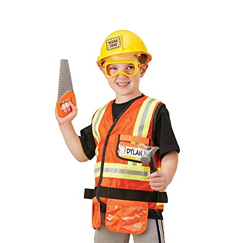 Melissa & Doug Construction Worker Role-Play Costume