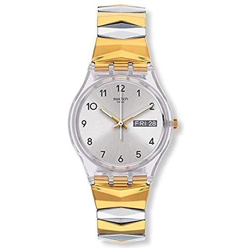 Swatch Reloj Digital para Mujer de Cuarzo con Correa en Acero Inoxidable GE707B
