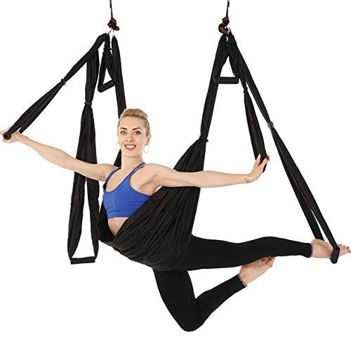 Omitree Large Bearing Aerial Yoga Trapeze Hammock High Load Capacity for Swing/Inversion/Sling with a Carrying Bag