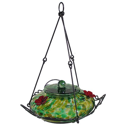 Nature's Way Bird Products GHF2 Nectar Feeders-Garden Speckled, 36-Ounce, Green/Yellow (Speckled Bird Feeder)
