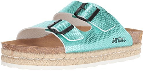 Bayton Women's Atlas Sandal, Turquoise, 38 Medium EU (7 US) (Turquoise Sandals Blue)