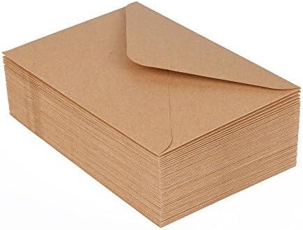 50 Kraftpapierumschläge, Briefumschläge, Umschläge, Kuverts im Format C6, 114 x 162 mm von ewtshop®