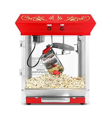 Maxi-Matic Tabletop Popcorn Popper Machine with Accessories, 4 oz, EPM-450