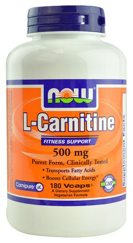 NOW Foods L-Carnitine -- 500 mg - 180 Vcaps® - 2PC by NOW Foods