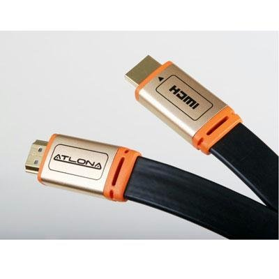 (10M (30FT) Atlona Flat High Speed HDMI 3D 1.4 Cable with Ethernet - Black ATF14032BL-10)
