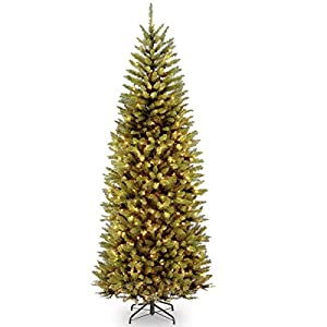 National Tree 7.5 Foot Kingswood Slim Fir Tree with 450 Dual Color  LED Lights and PowerConnect  9 Function System, Hinged (KW7-D52-75) 119