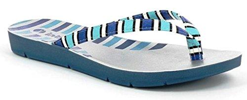 INBLU - Sandalias de vestir de piel sintética para mujer azul Jeans 39