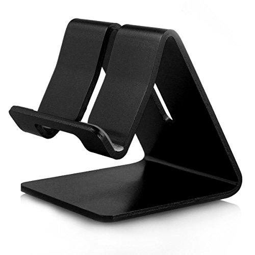 Alienwork Tablet Ständer für 4-12 Zoll Smartphone/Tablet Ständer Stand Halter Halterung Aluminium schwarz AD401F-02