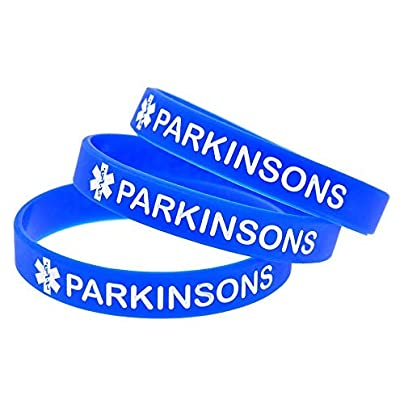 Sxuefang Silicone Bracelets With Sayings Parkinsons Rubber Wristbands For Kids Motivation Creative Gift Set Pieces Estimated Price £29.99 -