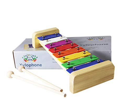 Zoey's Art Wooden Xylophone Musical Instrument Toy for Children, Educational Fun Great Gift