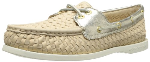 Sperry Top-Sider Women's A/O Woven Boat Shoe,Taupe,8 M US