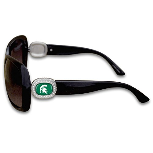 Michigan State Spartans Chantilly Sunglasses Embelished with Rhinestone Logo - Msu Sparty Costume