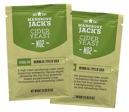 2x Mangrove Jack's Yeast Cider M02 Craft Series Yeast 9g