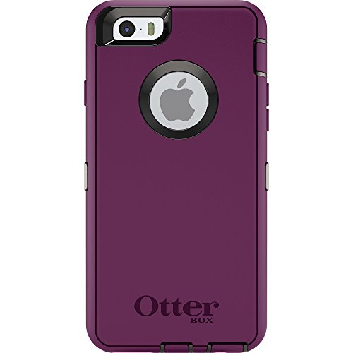 OtterBox Defender Series Case for Apple iPhone 6s/6 (Case Only - Holster Not Included) (Damson Purple - Black)
