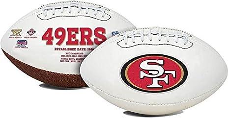 d3d1baf0 San Francisco 49ers Embroidered Logo Signature Series Full Size Football -  w-th Super Bowl XVI, XIX, XXIII, XXIV, XXIX Logo's - New in Box