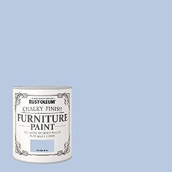 rust oleum chalk chalky furniture paint powder blue 750ml by