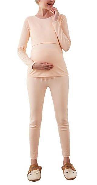 Huateng Mujer Mujeres embarazadas Algodón Forro vellón Fiebre Grueso Y suave Invierno Negro Gris