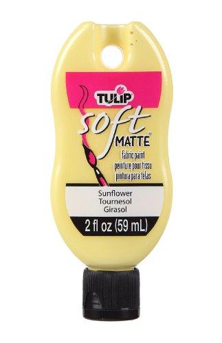 Tulip Soft Fabric Paint Bottle, 2-Ounce, Matte Sunflower (Paint 2 Ounce Sunflower)