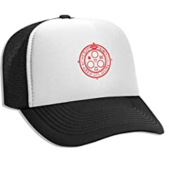 This Flat Billed Trucker Cap Has A Mesh Back, It's A Snapback Closure Adjustable To Fit Almost Any Head.Designed To Fit Almost Any Head, It's A Snapback Closure Adjustable To Fit Almost Any Head, An Adjustable Strap Closure In The Rear, In Ca...