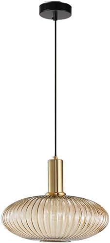I-xun Glass Pendant Light Retro Style Pendant Light Fitting Drop Ceiling Hanging Lamp Shade Green Amber L