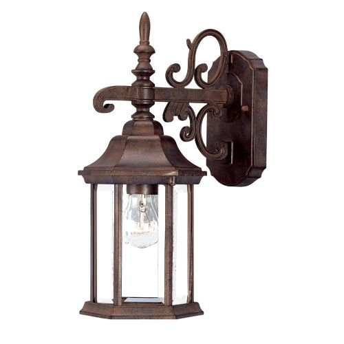 Acclaim 5183BW Madison Collection 1-Light Wall Mount Outdoor Light Fixture, Burled Walnut Review