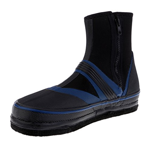 MagiDeal Fishing Boots Shoes Anti-Slip Nails Spikes Waterproof Wading Shoes US 6-9.5 LmU1zus