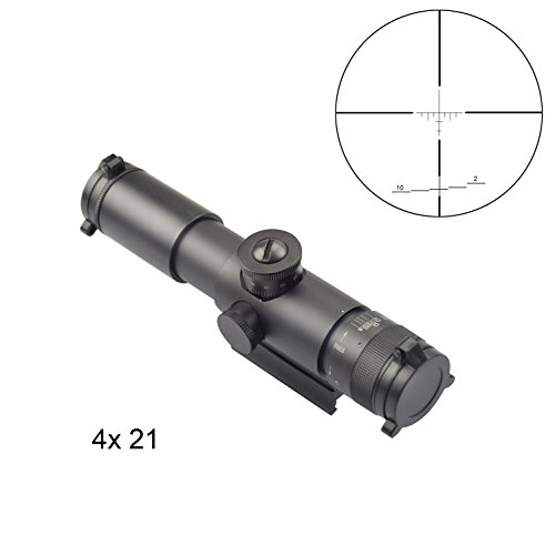 Fyland Rifle Scope AO 4x 21 mm with Quick Detach Mount, 30 mm Tube Black