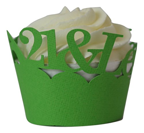 All About Details Grass Green 21-&-legalized Cupcake Wrappers, Set of 12 (Wrappers Cupcake Grass)