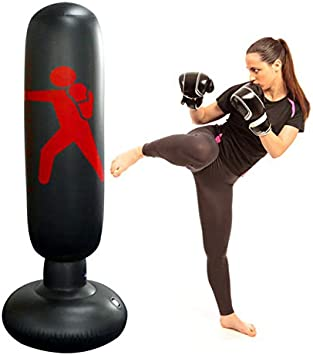 Inflatable Boxing Punching Bag Kick Training Tumbler Adult For Kids Sandbag N8C0