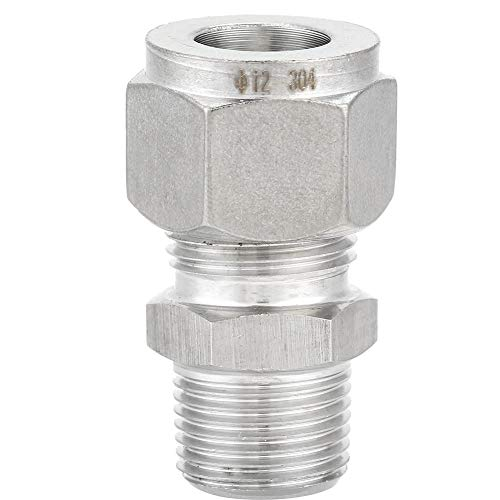 ZG3//8-8 Walfront ZG3//8 304 Stainless Steel Compression Fitting Straight Ferrule Joint for Oil Air Water Medium