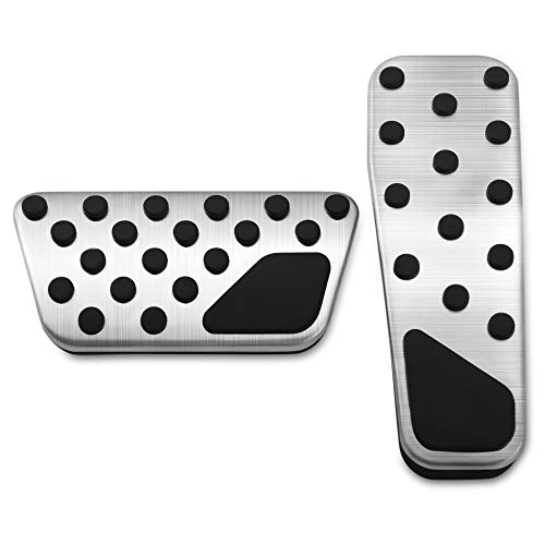 Thie2e Foot Pedal Pads Auto Brake Pedal Pad kit Fit for Dodge Charger Chrysler 300 Challenger 2008-2016 ()