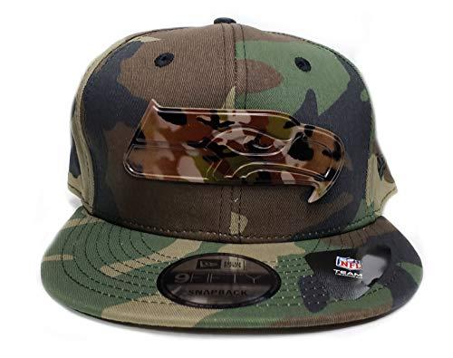 759b031e9693a New Era 9Fifty Army Camo Capped Adjustable Snapback Hat (Seattle Seahawks)