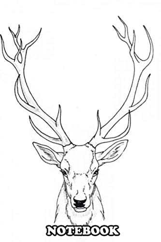 Notebook: Ink Portrait Of A Pretty Deer , Journal for Writing, College Ruled Size 6