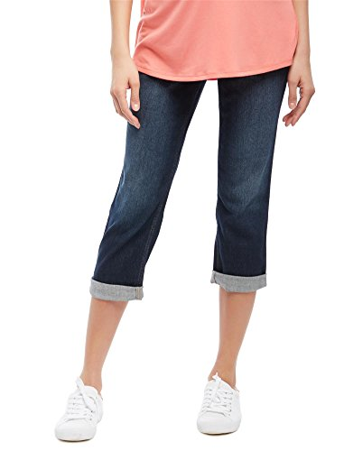 Maternity Crop Jeans Leg (Motherhood Secret Fit Belly Straight Leg Maternity Crop Jeans)