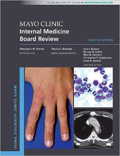 Mayo Clinic Internal Medicine Board Review (Mayo Clinic Scientific Press), 12th Edition - Original PDF