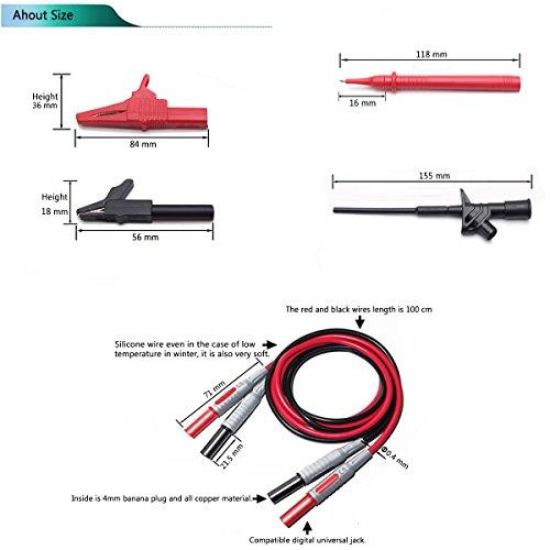 10 in 1 electronic test lead kit liumy alligator clips automotive rh amazon com Case 75XT Wiring-Diagram Case VAC Wiring-Diagram