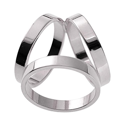 Maikun Scarf Ring Modern Simple Design Triple-Ring Scarf Ring Gift for Valentine's ()