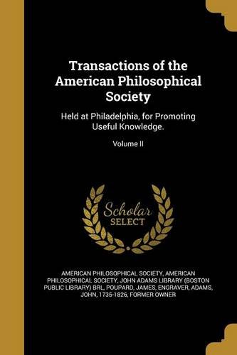 Transactions of the American Philosophical Society PDF