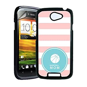 Basketball Mom Baby Pink Stripes Circle Hipster HTC One S Case - Fits HTC One S