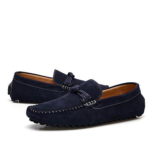 Generic Men's Comfort Flat Navy Blue Suede Loafers Shoes,UK9