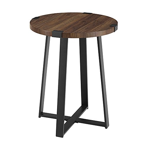 (WE Furniture AZF18MWSTDW Side Table, Dark Walnut)