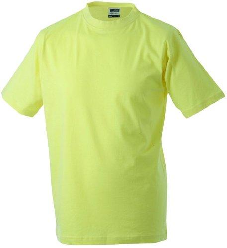 Round-T Shirt Heavy/James & Nicholson (JN 002) S M L XL XXL 3XL 4XL 5XL hellgelb,S